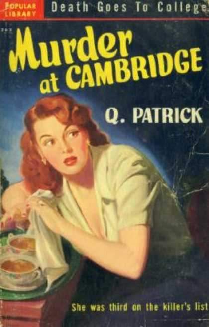 Popular Library - Murder at Cambridge - Q Patrick