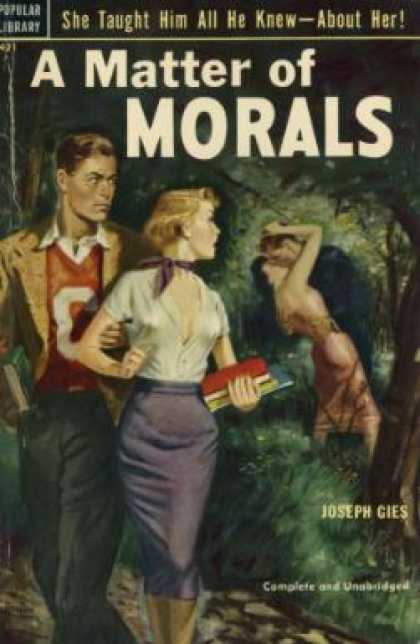 Popular Library - A Matter of Morals - Joseph Gies