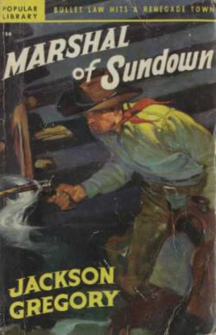 Popular Library - Marshal of Sundown - Jackson Gregory