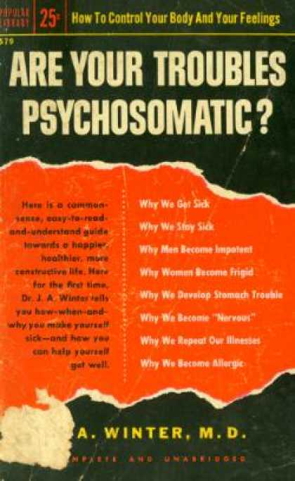 Popular Library - Are Your Troubles Psychosomatic? - J. a Winter