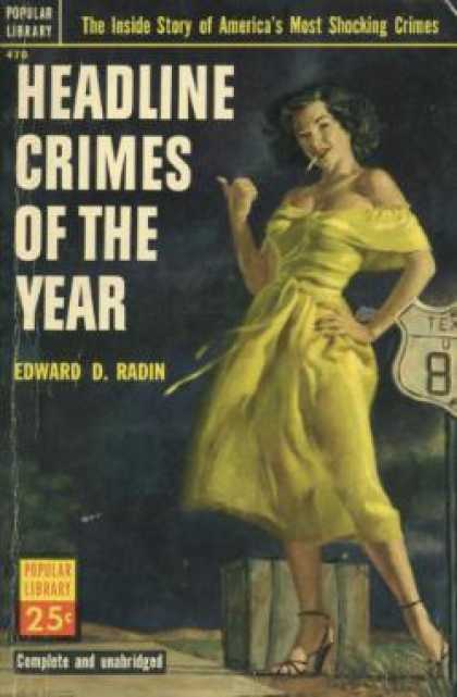 Popular Library - Headline Crimes of the Year - Edward D Radin