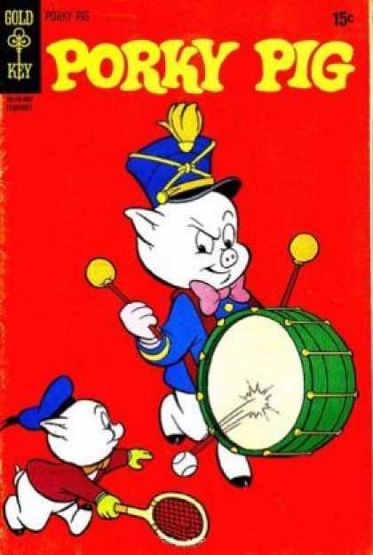 Porky Pig 28 - Swine - Father And Son - Funny - Stupid - American