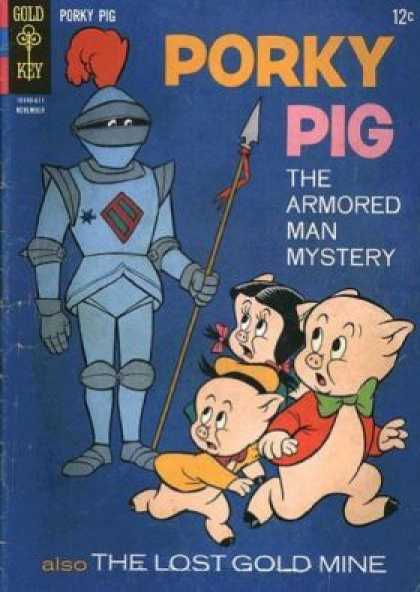Porky Pig 9 - The Armored Man Mistery - The Lost Gold Mine - Spear - Red Poof - Bow Tie