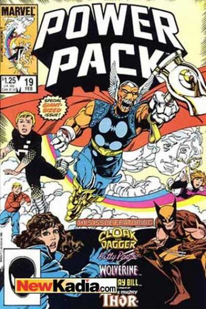 Power Pack 19 - Marvel - Cloak Dagger - Wolyerine - Thor - Newkadiacom