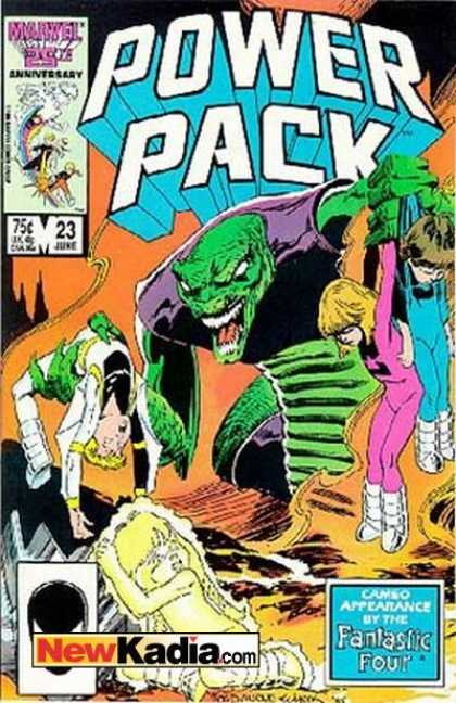 Power Pack 23 - Marvel - Newkadiacom - Fantastic Four - Green - 23 June - Bob Wiacek, Jon Bogdanove