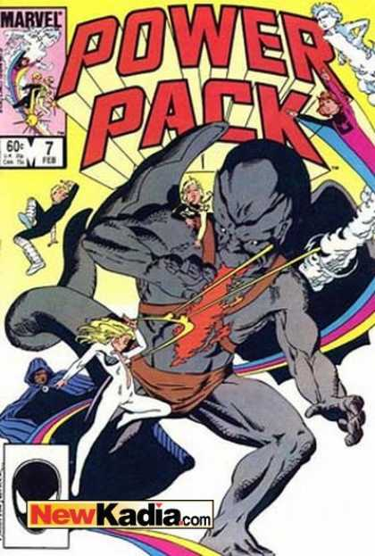 Power Pack 7 - Marvel - Fire Breathing - Demon - Winged Demon - Superhero Team