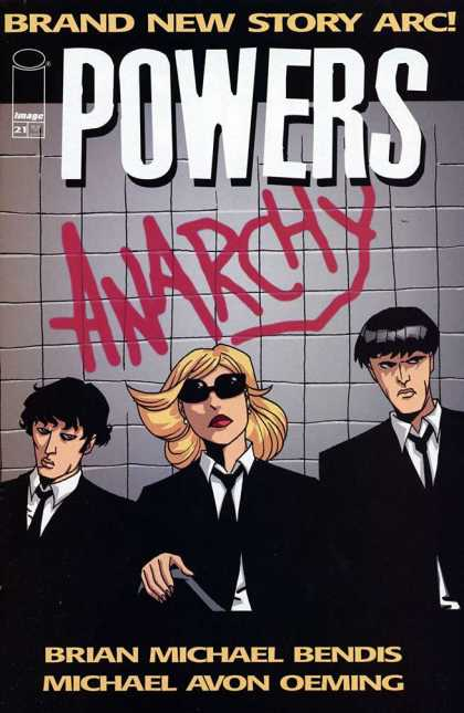 Powers 21 - Image - Anarchy - Sunglasses - Tile Wall - Blonde - Michael Oeming