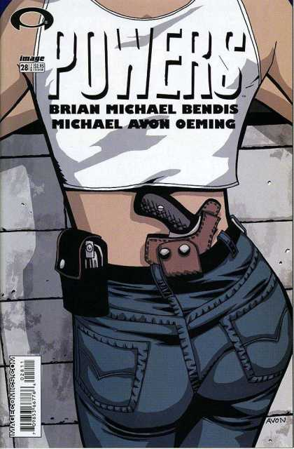 Powers 28 - Brian Michael Bendis - Michael Avon Oeming - Gun - Holster - Michael Oeming