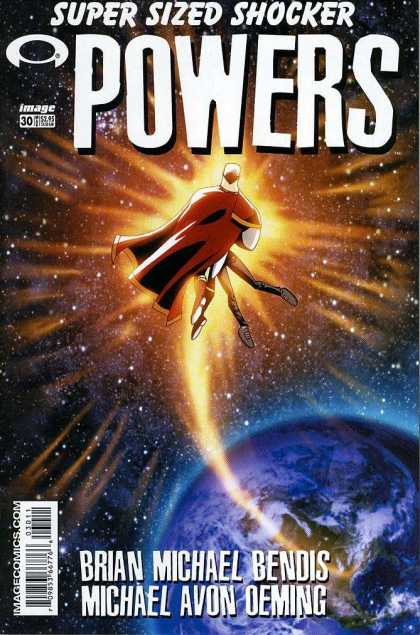 Powers 30 - Earth - Space - Red Cape - Starburst - Stars - Michael Oeming