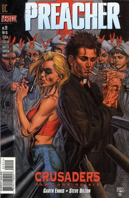 Preacher 19 - Garth Ennis - Steve Dillon - Crusaders Part One Of Six - Surrounded - Guns