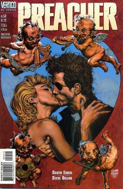Preacher 54 - Harp - Angels - Kiss - Eye Patch - Musical Instruments