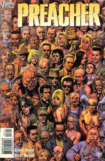 Preacher 56 - Issue 56 - The Congregation - Demon In The Crowd - Vertigo Comics - Dc Comics