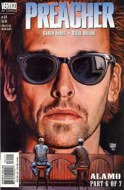 Preacher 64 - Preacher - Garth Ennis - Steve Dillon - Glasses - Alamo Part 6 Of 7
