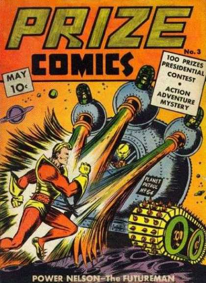 Prize Comics 3 - 10 Cents - May - Power Nelson - The Futureman - Saturn