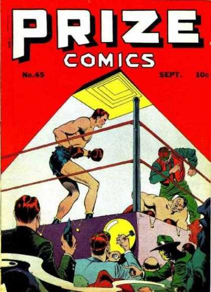Prize Comics 45 - Boxers - Knock Out - Ring - Punch - Boxing Match