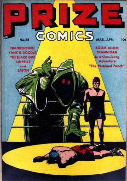 Prize Comics 58 - Grim Reaper - Boxing - Frankenstein - The Black Owl - The Poisoned Punch