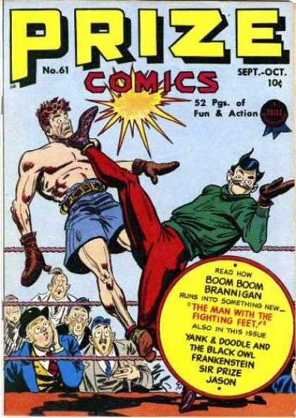 Prize Comics 61 - Fun U0026 Action - Boom Boom - Man - Man With The Fighting Feet - Ring