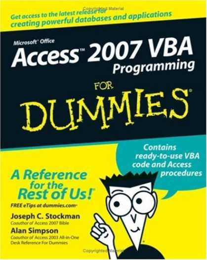 Programming Books - Access 2007 VBA Programming For Dummies (For Dummies (Computer/Tech))