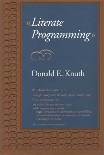 Programming Books - Literate Programming (Center for the Study of Language and Information - Lecture