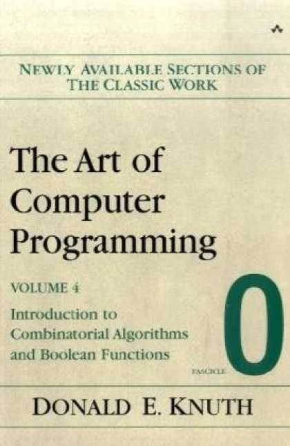 Programming Books - The Art of Computer Programming, Volume 4, Fascicle 0: Introduction to Combinato