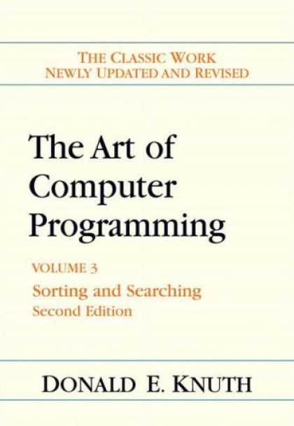 Programming Books - Art of Computer Programming, Volume 3: Sorting and Searching (2nd Edition) (Art