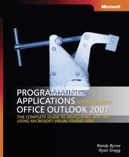 Programming Books - Programming Applications for Microsoft Office Outlook 2007