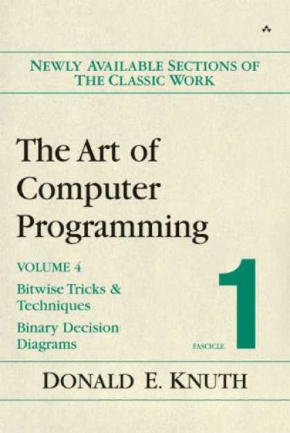 Programming Books - The Art of Computer Programming, Volume 4, Fascicle 1: Bitwise Tricks & Techniqu