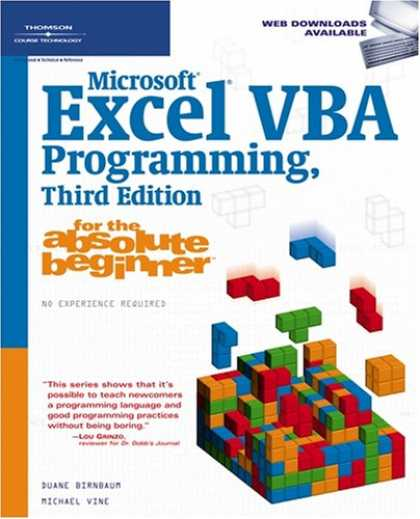 Programming Books - Microsoft Excel VBA Programming for the Absolute Beginner