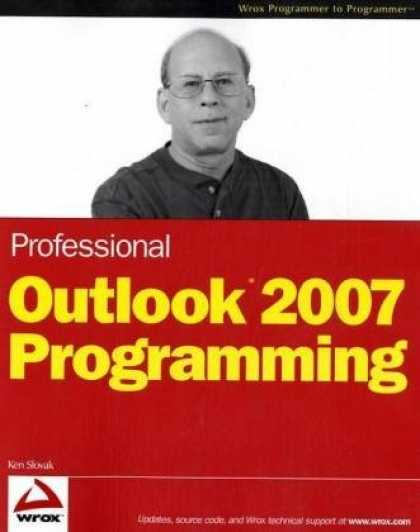 Programming Books - Professional Outlook 2007 Programming (Programmer to Programmer)