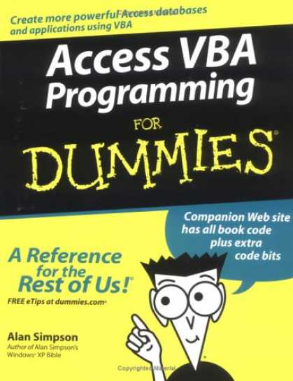 Programming Books - Access VBA Programming For Dummies (For Dummies (Computer/Tech))