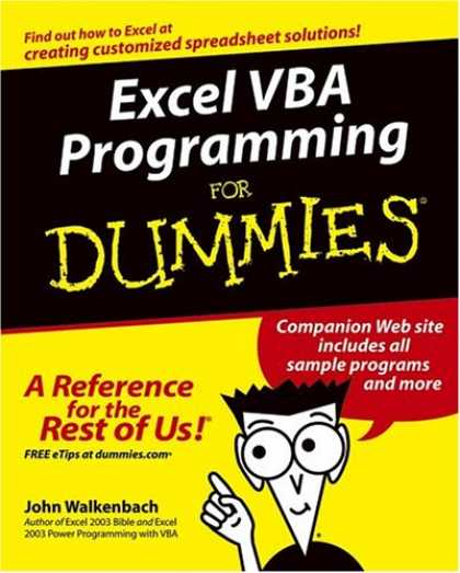 Programming Books - Excel VBA Programming For Dummies (For Dummies (Computer/Tech))