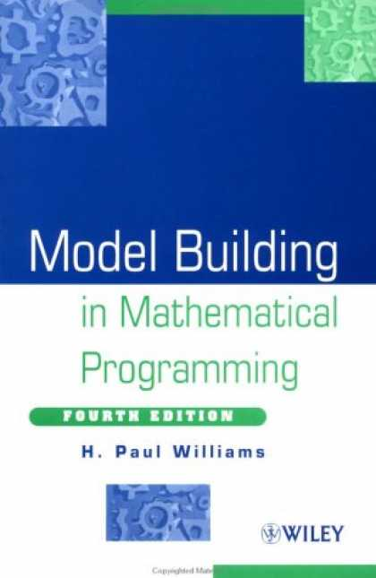 Programming Books - Model Building in Mathematical Programming, 4th Edition