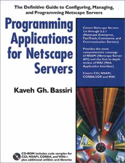 Programming Books - Programming Applications for Netscape Servers