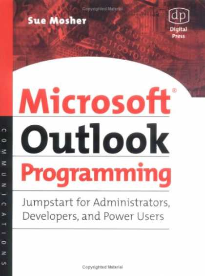 Programming Books - Microsoft Outlook Programming, Jumpstart for Administrators, Developers, and Pow