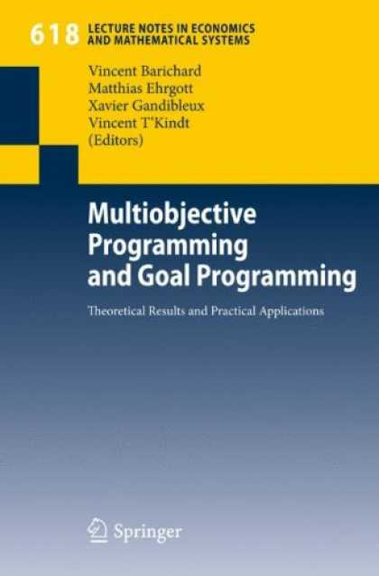 Programming Books - Multiobjective Programming and Goal Programming: Theoretical Results and Practic