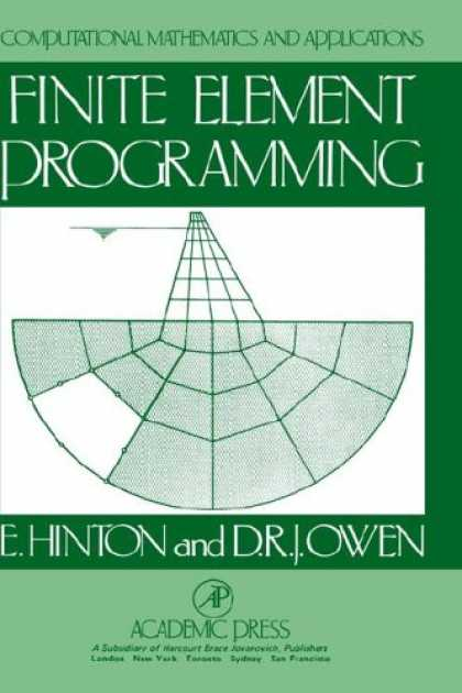 Programming Books - Finite Element Programming (Computational Mathematics & Application Series) (Com
