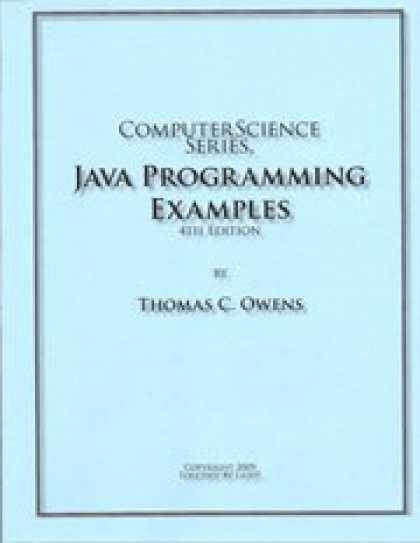 Programming Books - Computer Science Series, Java Programming Examples