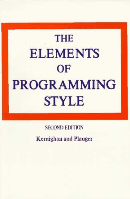 Programming Books - The Elements of Programming Style