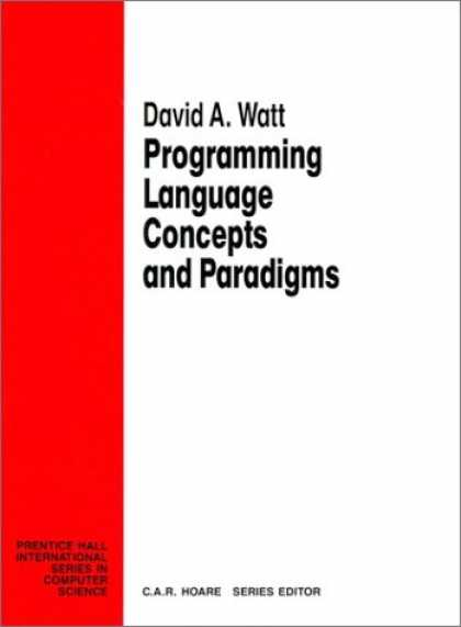 Programming Books - Programming Language Concepts Paradigms (Prentice Hall International Series in C