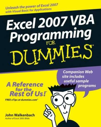 Programming Books - Excel 2007 VBA Programming For Dummies (For Dummies (Computer/Tech))