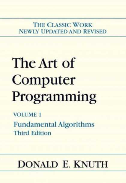 Programming Books - Art of Computer Programming, Volume 1: Fundamental Algorithms (3rd Edition) (Art