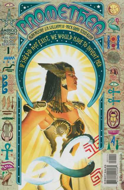 Promethea 1 - Alan Moore - Jh Williams Iii - Mick Gray - Todd Klein - Hieroglyphics - Alex Ross