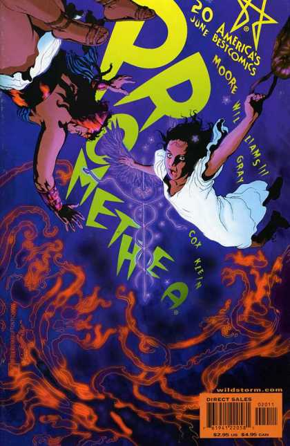 Promethea 20 - Americas Best Comics - Greek Mythology Comics - Falling Woman - Greek Hero - Moore - III Williams, Mick Gray