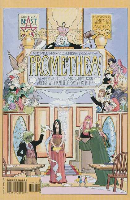 Promethea 25 - Frog Person - Fairies - Crown - Gavel - Golden Birds - III Williams, Mick Gray