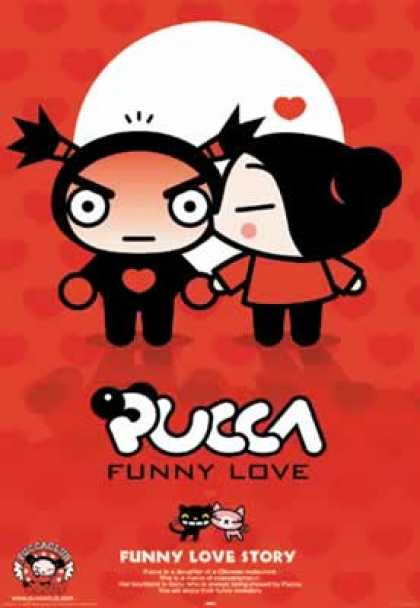 Pucca 1 - Pucca - Funny Love - Funny Love Story - Red White And Black - Kiss