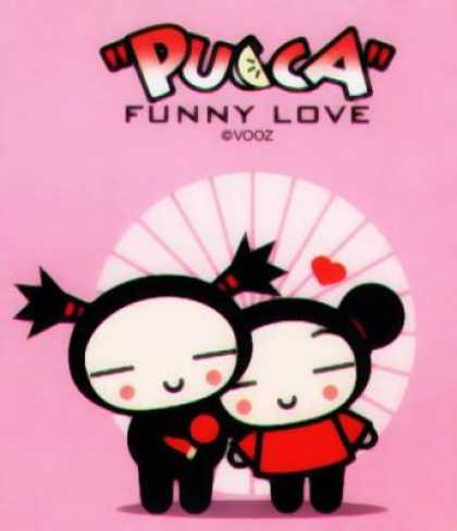 Pucca 2 - Funny Love - Vooz - Toys - Original Art - Love Symbol