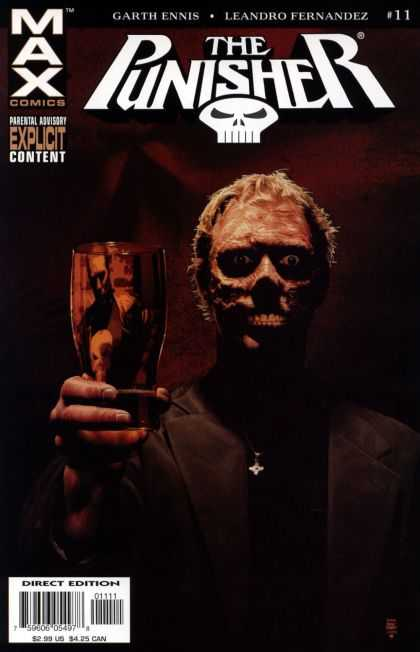 Punisher (2004) 11 - Skull - Glass - Man - Explicit Content - Direct Edition - Tim Bradstreet
