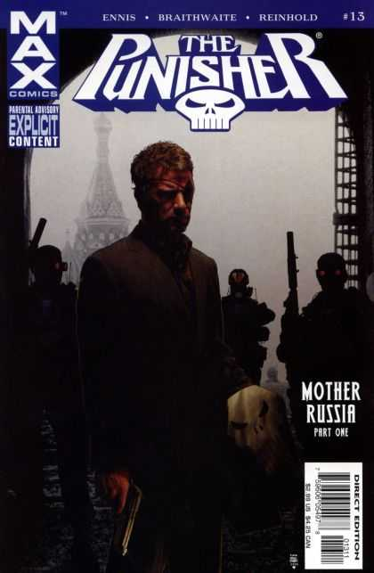 Punisher (2004) 13 - Black - Punisher - Frank Castle - People In The Background - Dark - Tim Bradstreet