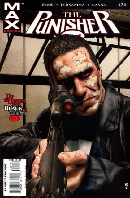 Punisher (2004) 24 - The Punisher - 24 - Up Is Down And Black Is White - Sniper Rifle - Scope - Tim Bradstreet