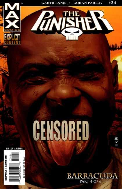 Punisher (2004) 34 - Garth Ennis - Goran Parlov - Censored - Tongue - Barracuda - Tim Bradstreet